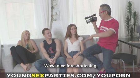 2 Chicas Eusan Pañial Para Tener Sexo