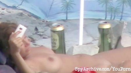 Abuelo Y Abuela Follando En La Playa
